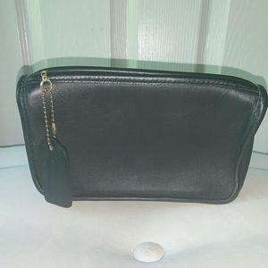 Vintage Coach Black Leather Wallet or Make Up Bag